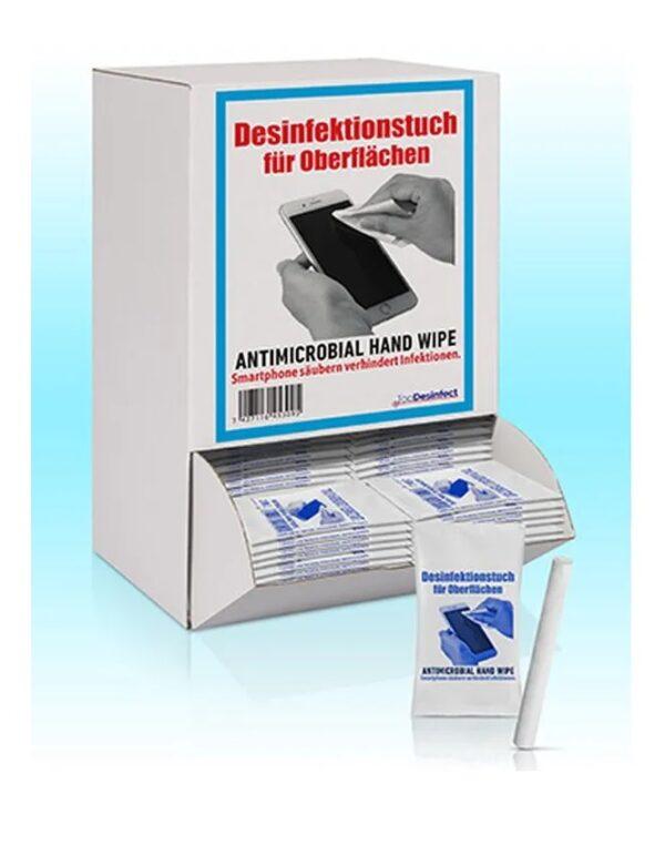 Hygiene Reinigungstücher für Oberflächen in einer Display Box mit 125 einzeln verpackten Tüchern 1