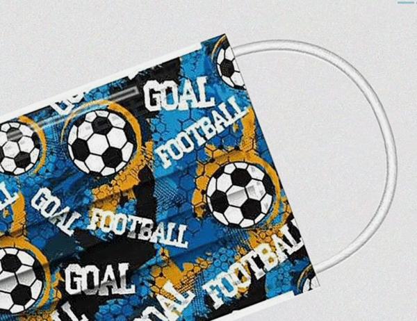 """10 x Design Familien Mundschutz """"Fußball ⚽"""" Atemschutz Einweg 3 lagig 3"""