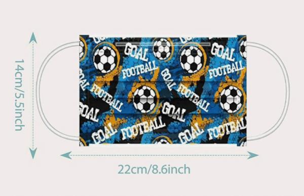 """10 x Design Familien Mundschutz """"Fußball ⚽"""" Atemschutz Einweg 3 lagig 2"""
