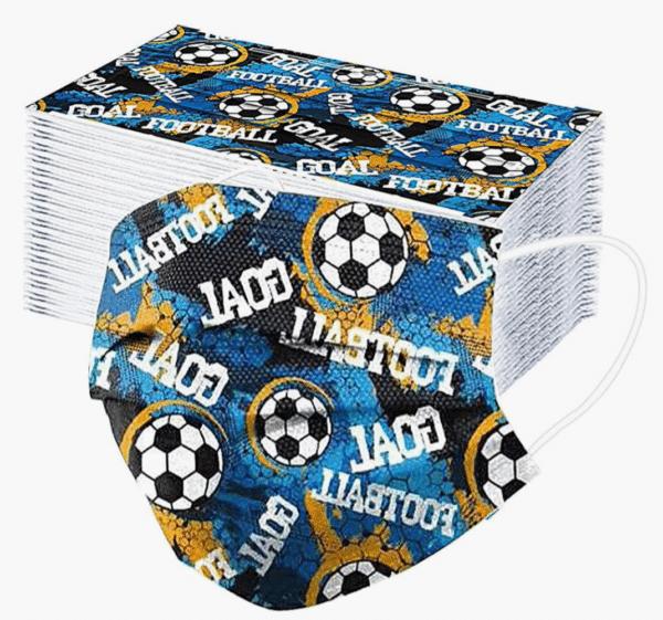 """10 x Design Familien Mundschutz """"Fußball ⚽"""" Atemschutz Einweg 3 lagig 1"""