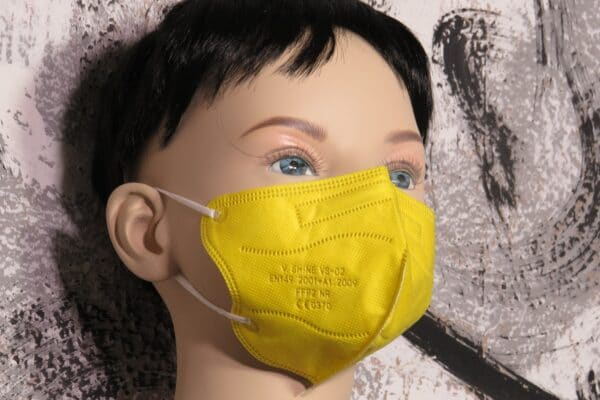 10er Pack KN95 KINDER Maske, bunt sortiert, Atemschutzmaske, Partikelfiltermaske, FFP2 Standard 5