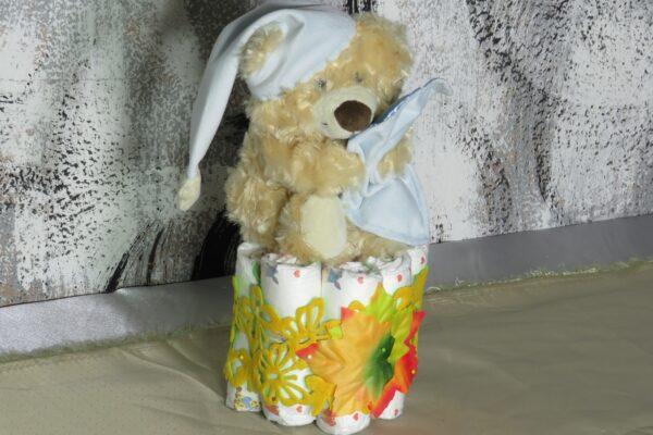 Windeltorte Cupcake Spieluhr Schlafbär 1