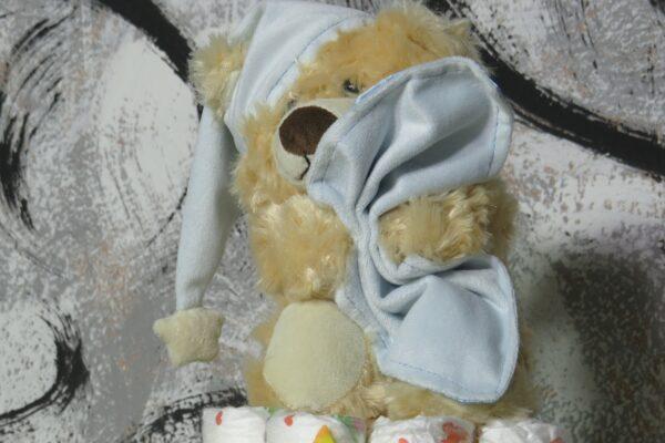 Windeltorte Cupcake Spieluhr Schlafbär 2