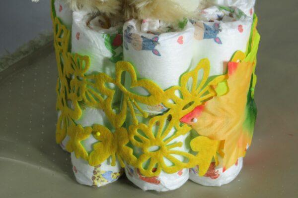 Windeltorte Cupcake Spieluhr Schlafbär 3