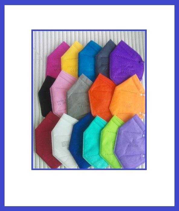 5er Pack FFP2 Maske CE Zertifiziert, 5lagig, Blitzversand DE Händler✅ FFP2 Masken Schwarz🖤Pink💖Blau💙 ✅Farbwahl 1