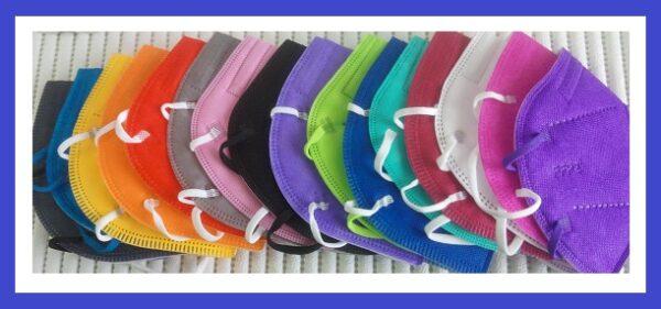 5er Pack FFP2 Maske CE Zertifiziert, 5lagig, Blitzversand DE Händler✅ FFP2 Masken Schwarz🖤Pink💖Blau💙 ✅Farbwahl 2