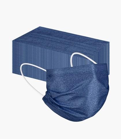 """5 x Design OP-Mundschutz """"Jeans-Design"""" Nasenschutz Atemschutz Einweg 3-lagig 2"""