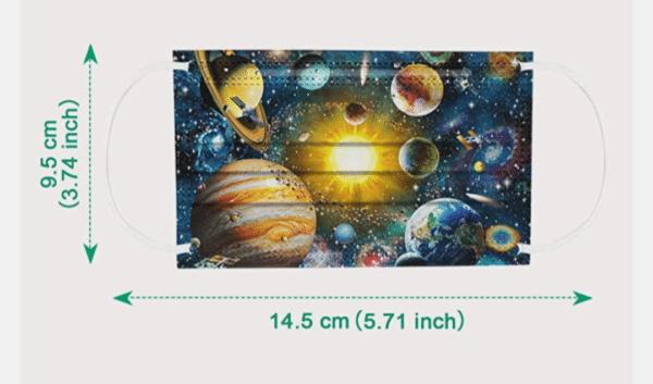 """5 x Kinder Design Mundschutz """"Galaxy"""" Nasenschutz Atemschutz Einweg 3 lagig 3"""