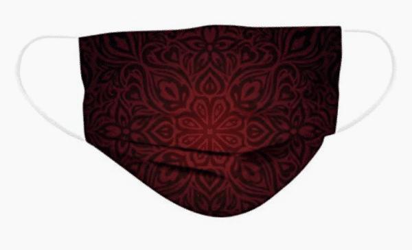 5 Stück OP Mundschutz - Designdruck - Gothic - schwarz/rot Nasenschutz Einweg 3-lagig 3