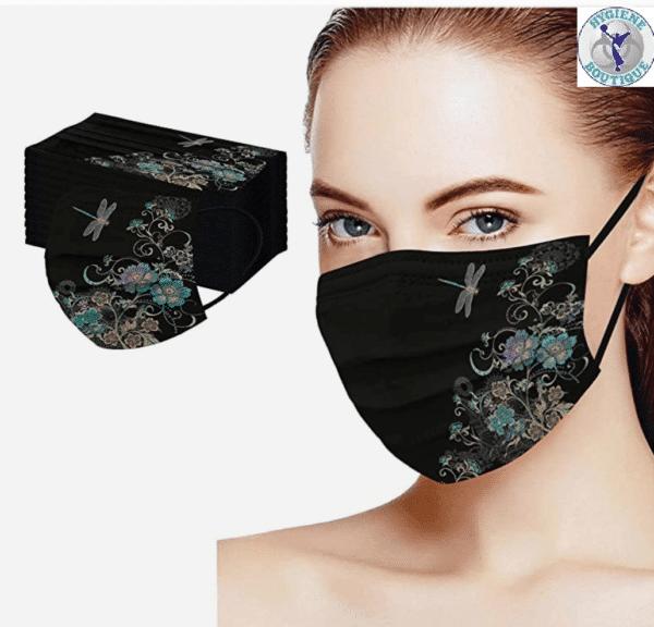 5 Stück OP Mundschutz Maske - Libelle - Einweg 3-lagig 2